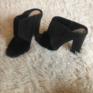 Saks Fifth Avenue GRAY mules